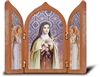 Saint Therese Tri-Fold Desk Plaque 453.340