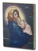 MADONNA OF THE STREETS LARGE GOLD EMBOSSED PLAQUE 520-203