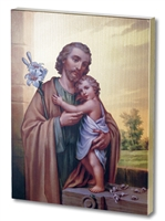 ST. JOSEPH LARGE GOLD EMBOSSED PLAQUE 520-630
