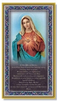 Immaculate Heart of Mary Plaque E59-201