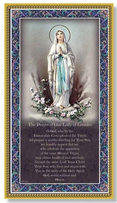 Our Lady of Lourdes Wall Plaque E59-274