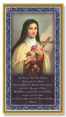 Saint Therese Little Flower Plaque E59-340