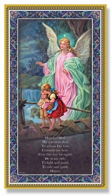 Guardian Angel Crossing the Bridge Wall Plaque E59-350
