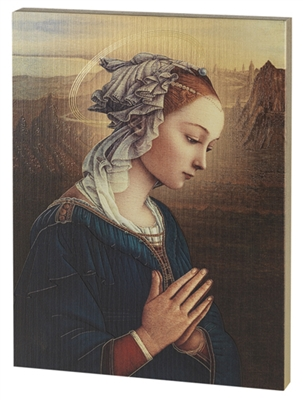 LIPPI MADONNA LARGE GOLD EMBOSSED PLAQUE 520-245