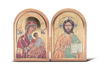 Our Lady of Passion and Christ the Teacher Standing Plaque 1204-241/143