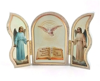 Seven Gifts of The Holy Spirit Triptych/Plaque 1205W-652