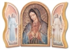 Gold Embossed Wood Our Lady of Guadalupe Triptych 1205.217