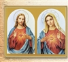 Sacred Heart of Jesus and Immaculate Heart of Mary Wall Plaque 810-191