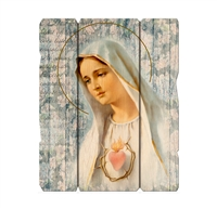 Immaculate Heart of Mary Large Wood Plaque 2549-214