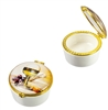 First Communion Porcelain Rosary Box with Glass 5991