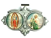 Our Lady of Guadalupe & Saint Jude Auto Visor Clip VR-320