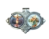 Crucifix & Saint Christopher Auto Visor Clip VR-119