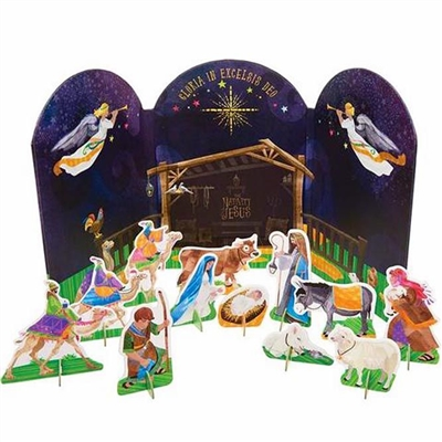 Pop-Out Nativity 12 Piece Set 1606-01