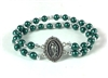 Our Lady of Guadalupe Green/Silver Bead Bracelet 88011311