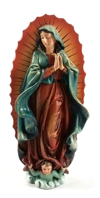 "4"" Our Lady of Guadalupe Statue PC944"