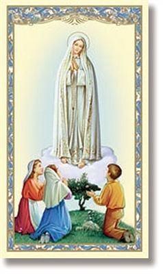 Novena To Our Lady of Fatima Holy Card RS264
