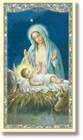Madonna and Child Christmas Holy Card