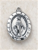 Sterling Silver Miraculous Medal and chain -- 2.3cm Medal -- 18 Chain