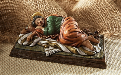 "Sleeping Saint Joseph 6"" Long Figure"
