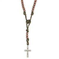 Jungle Green Military Rosary D1954
