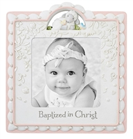 Baptized in Christ Pink Photo Frame D3083