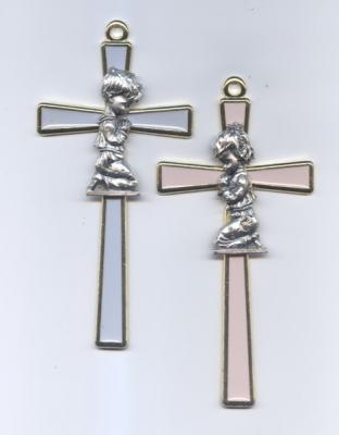 Baby Enamel Cross