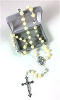 Cream Rose Petal Rosary 950-133-16