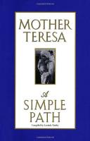 Mother Teresa A Simple Path