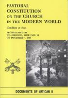 Pastoral Constitution on the Church in the Modern World by Gaudium et Spes