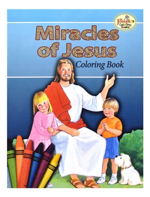 St. Joseph Miracles of Jesus Coloring Book 686