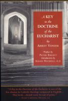A Key to the Doctrine of the Eucharist by Abbot Vonier - Catholic Book on the Mass, Paperback, 196 pp.