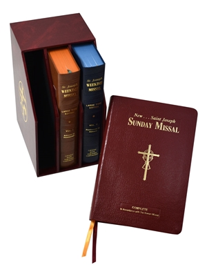 St. Joseph Daily and Sunday Missal (Large Type Editions) COMPLETE GIFT BOX 3-VOLUME SET 838/23