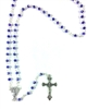 Blue Sapphire Glass Bead Rosary 990151-25