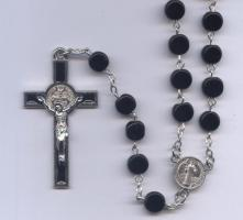St. Benedict Glass Bead Rosary