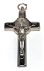 Saint Benedict Black Enamel Inlay Cross