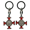 Red Saint Benedict Cross Keychain
