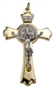 Gold and Silver Saint Benedict Crucifix