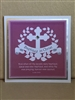 Baptized in Christ Pink Greeting Card