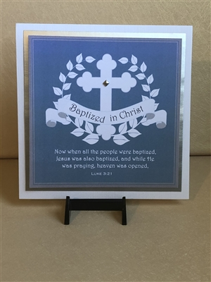 Baptized in Christ Blue Greeting Card