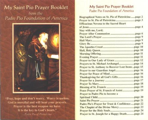 My Saint Pio Prayer Booklet
