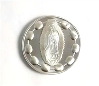 Guadalupe Silver or Gold Pocket Rosary Coin
