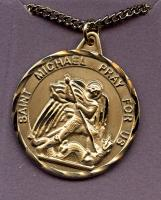 3.2 Cm St. Michael Medal--12 Kt. Gold Filled or Sterling Silver