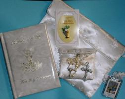 Rememberance of My First Holy Communion Pearlized Mass Book, or  Purse Set