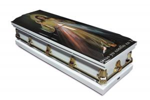 Divine Mercy Casket (Spanish Inscription)