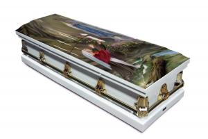 Lourdes Casket (with Our Lady and Saint Bernedette)