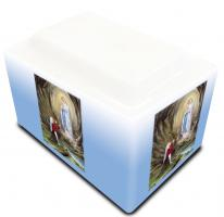Lourdes Urn (Saint Bernedette and Our Lady)