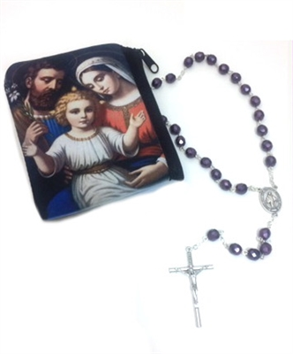 Holy Family Rosary Case