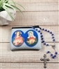 SACRED HEART AND IMMACULATE HEART ROSARY POUCH