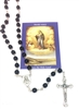 Black Glass Bead Rosary from the Holy Land