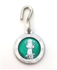 Saint Francis White/Green Enamel Pet Medal